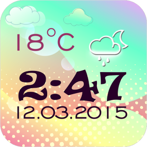 Transparent Clock And Weather  2.0