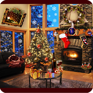 Christmas Fireplace LWP Full  1.63 [Paid]