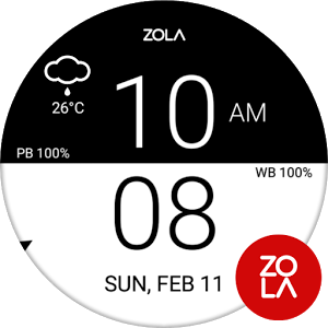 Two Sides Flat Watch Face 1.0.2