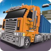Blocky Truck Driver: Urban Transport 1.6 (Mod)