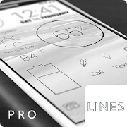 Lines Dark - Flat Black Icons (Pro Version)