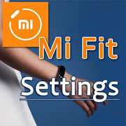 MiFit settings. Smart fitness tracker Mi Fit 1.08
