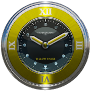 yellow snake clock widget