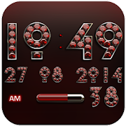 Digi Clock Widget Red Diamond 2.51