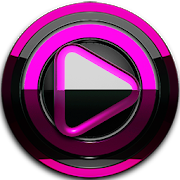 Poweramp skin Black Pink3.10 [Paid]