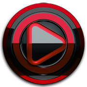Poweramp skin Black Red 3.10 [Paid]