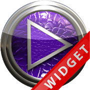 Poweramp Widget Purple Leather