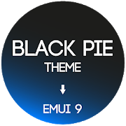 Black Pie Theme for EMUI 9 / 9.1 Huawei/Honor13.0 [Paid]