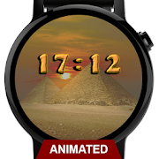 Watch Face: Sandstorm of Giza - Wear OS Smartwatch