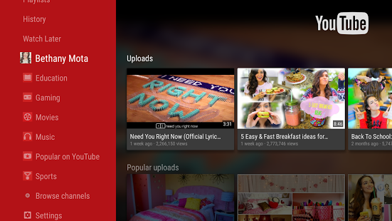 YouTube for Android TV 1 11 5 apk (com google android