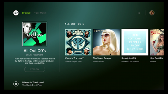 Spotify Music-for Android TV 1 12 0 [Mod] apk (com spotify