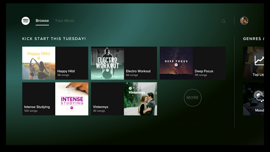 Spotify Music-for Android TV 1 12 0 [Mod] apk (com spotify tv