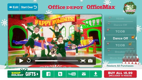 officemax elf yourself free download