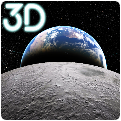 Earth & Moon  Parallax 3D Live Live Wallpaper