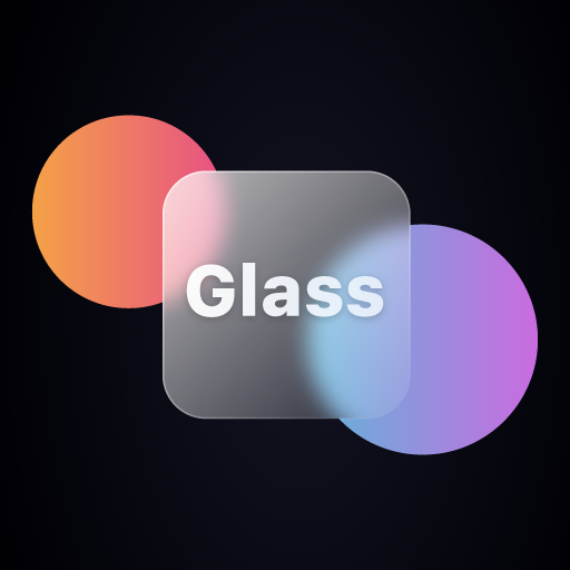 Glass morphism icon pack